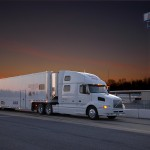 The R.E. Technologies Racing hauler ready to unload.