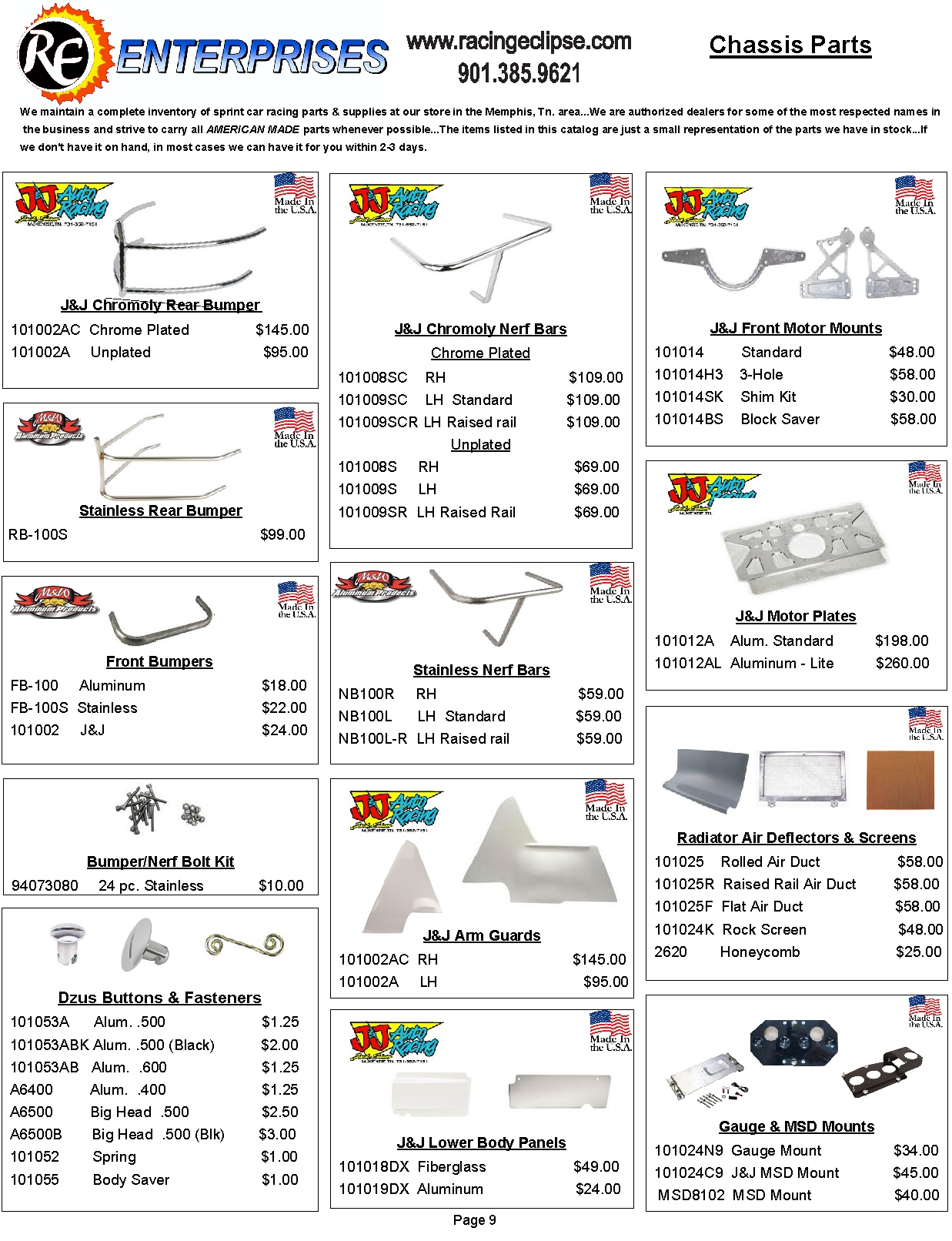Catalog Page 9- Chassis Parts